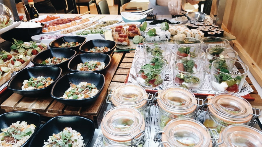 Brunch del Hotel Only You Atocha - Buffet de Ensaladas