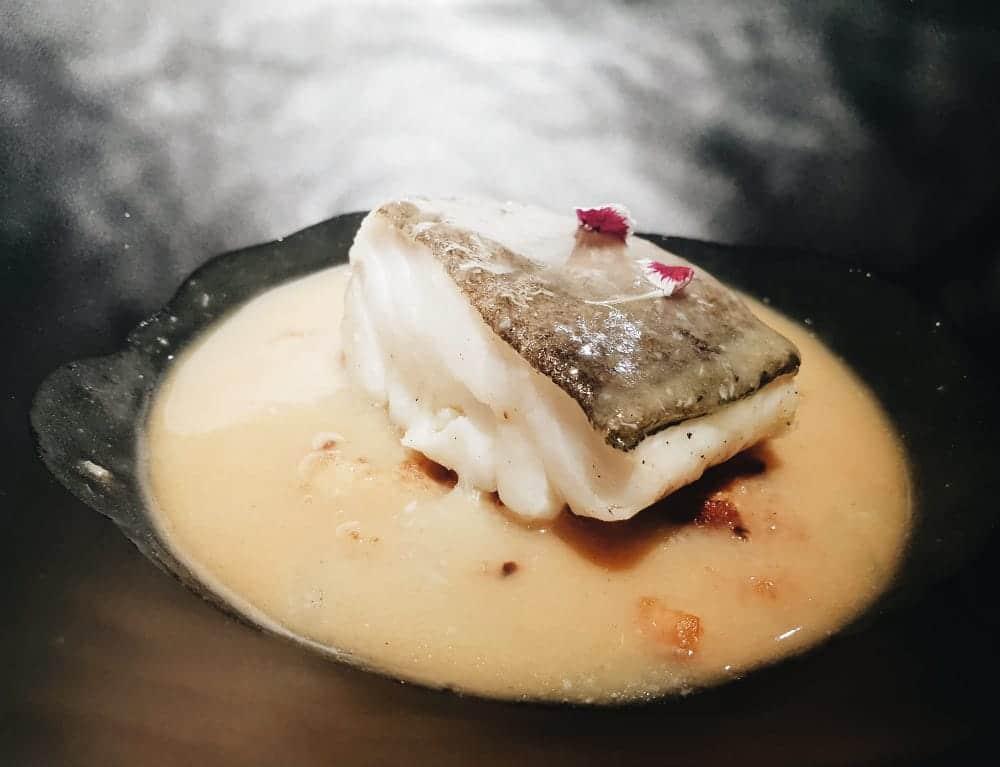 Restaurante Biosfera - Bacalao con Migas