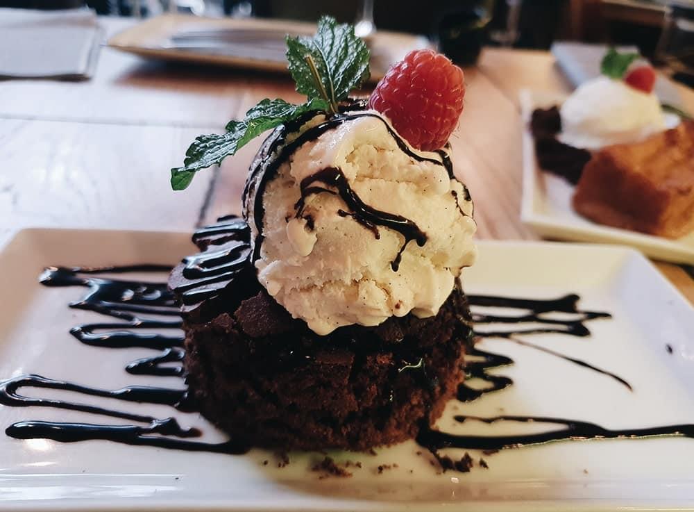 Restaurante La Contraseña - Brownie de Chocolate