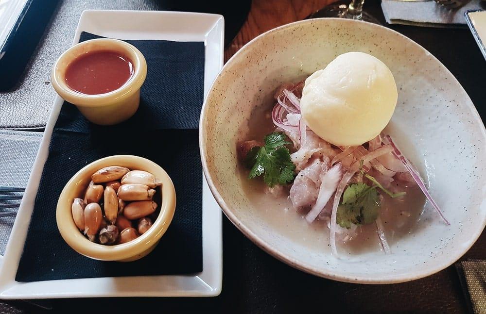 Restaurante La Contraseña - Ceviche de Corvina