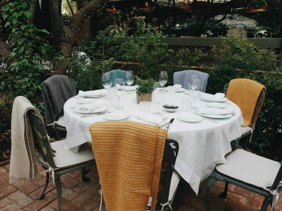 Restaurante Numa Pompilio - Mesa terraza