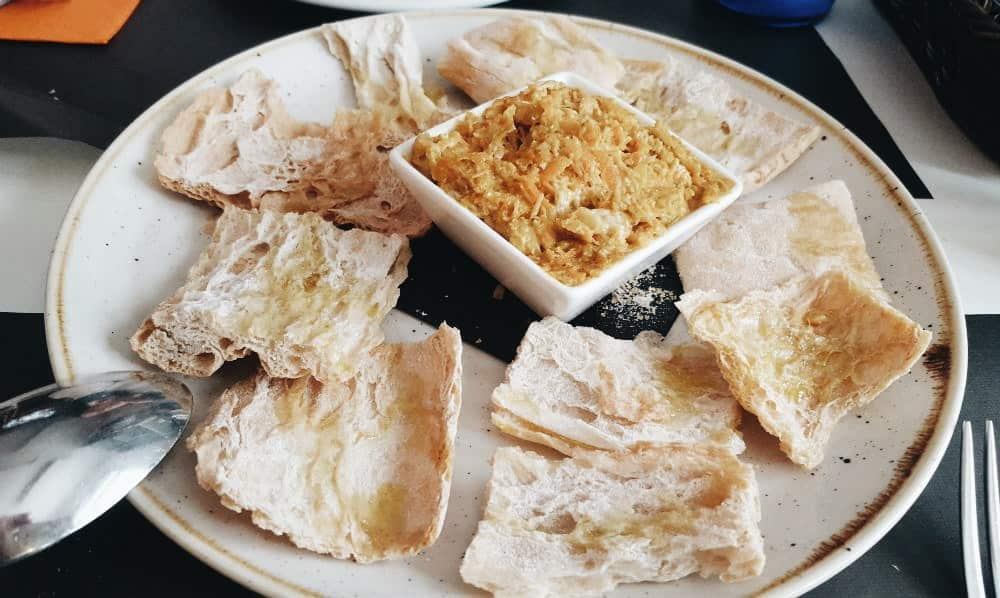 Restaurante Txirimiri - Tostas con Txangurro