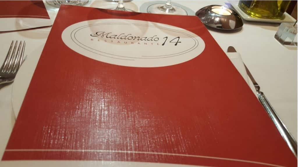 Restaurante Maldonado 14 - Carta